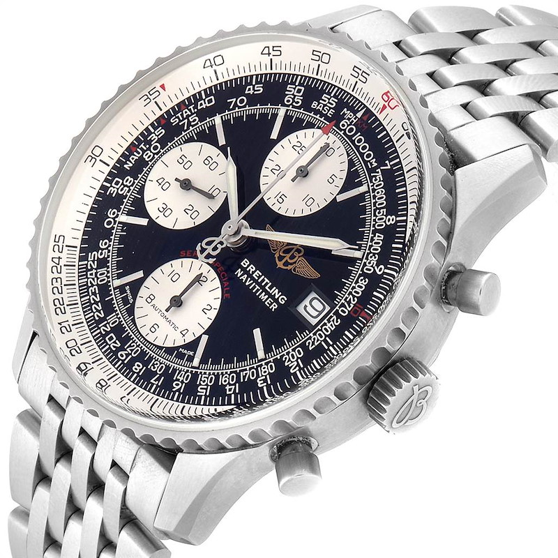 Breitling Navitimer Fighter Chronograph Steel Mens Watch A13330 SwissWatchExpo