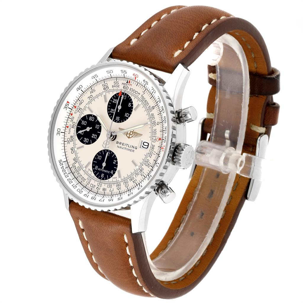 24143 Breitling Navitimer Heritage Panda Dial Mens Watch A13324 Box Papers SwissWatchExpo