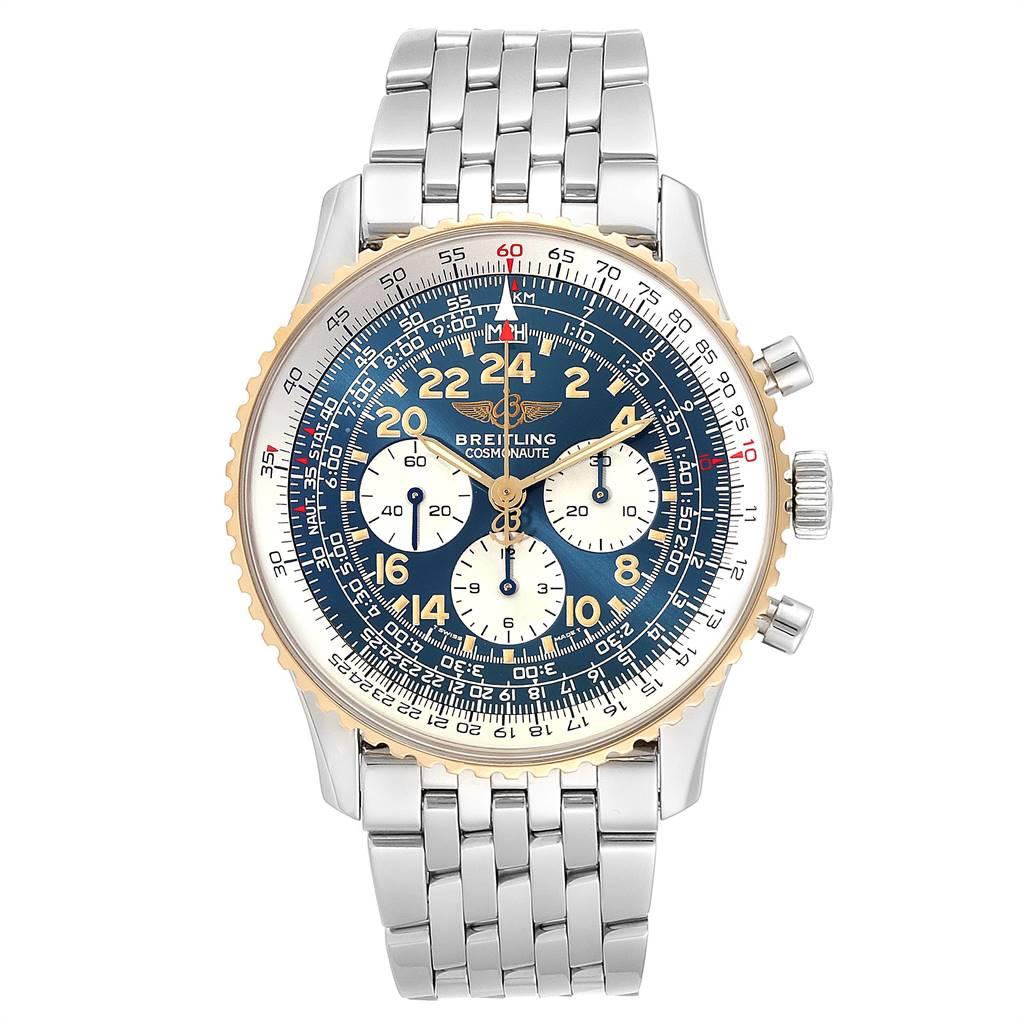 Breitling Navitimer Cosmonaute Lemania Steel Yellow Gold Watch D12022 SwissWatchExpo