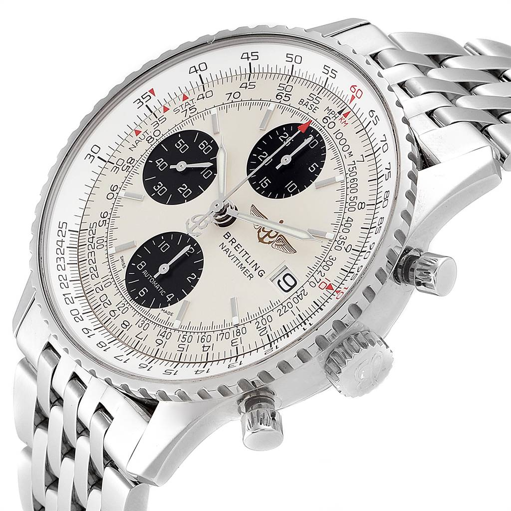 24789 Breitling Navitimer Heritage Panda Dial Mens Watch A13324 Box Papers SwissWatchExpo