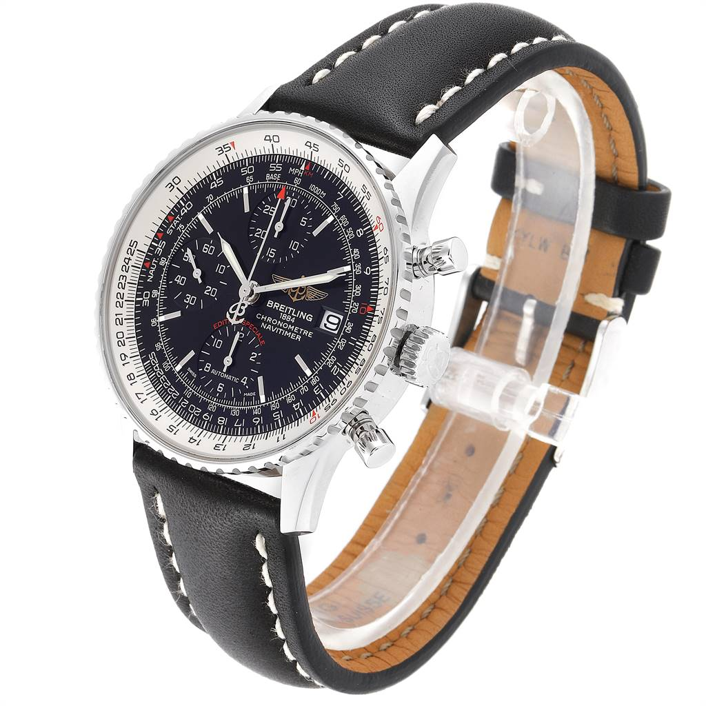 24791 Breitling Navitimer Heritage Black Dial Mens Watch A13324 Box Papers SwissWatchExpo