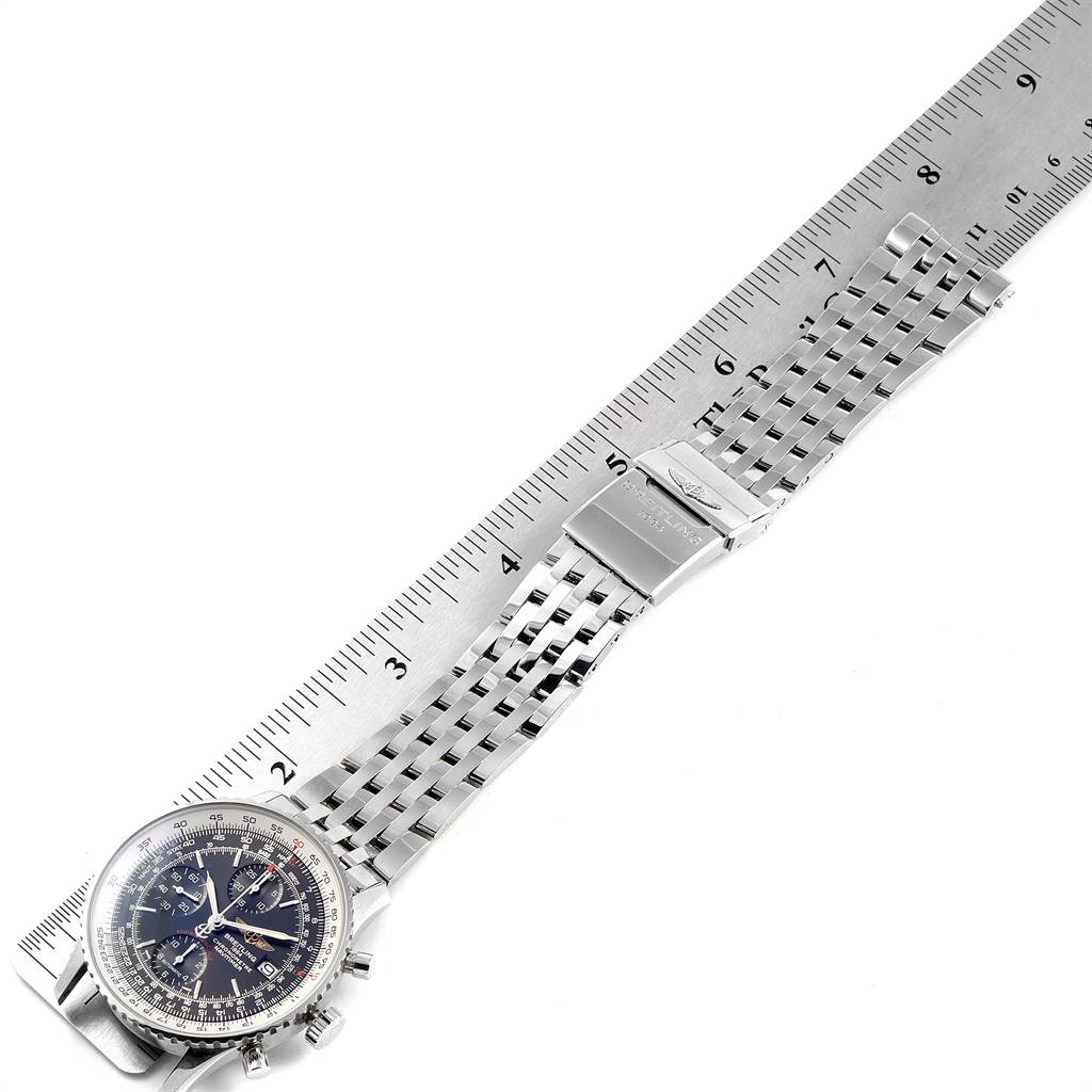 24787 Breitling Navitimer Heritage Black Dial Mens Watch A13324 Box Papers SwissWatchExpo