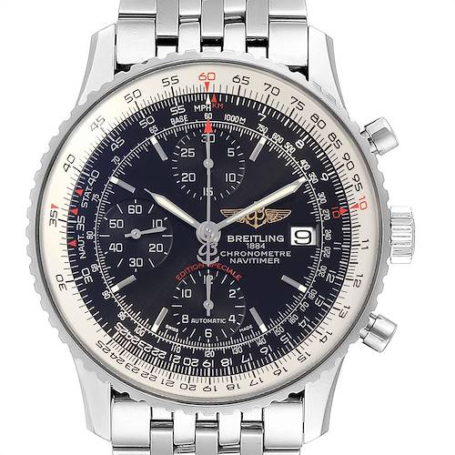 Photo of Breitling Navitimer Heritage Black Dial Mens Watch A13324 Box Papers