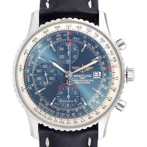 Photo of Breitling Navitimer Heritage Blue Dial Mens Watch A13324 Box Papers
