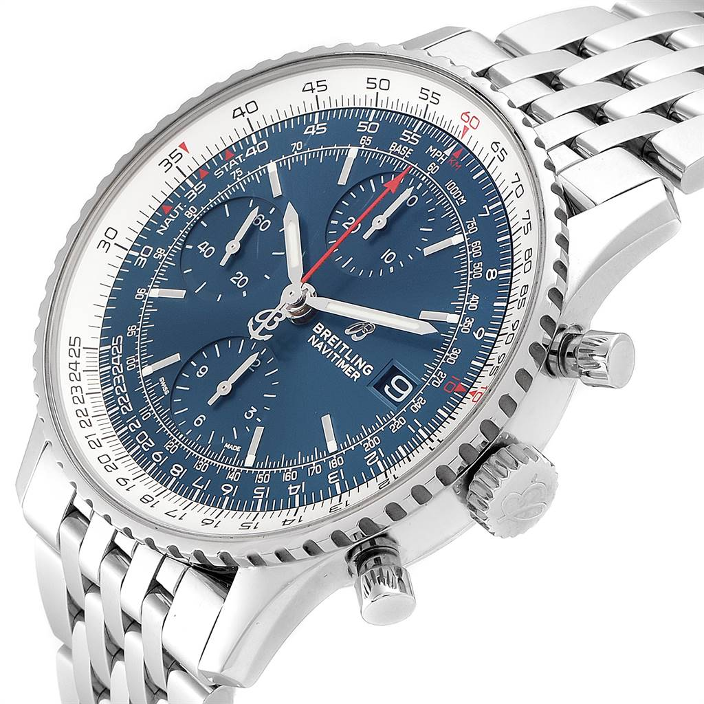 24788 Breitling Navitimer Heritage Blue Dial Mens Watch A13324 Box Papers SwissWatchExpo