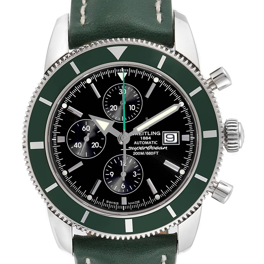 Breitling SuperOcean Heritage Limited Edition Green Bezel Watch A13320 SwissWatchExpo