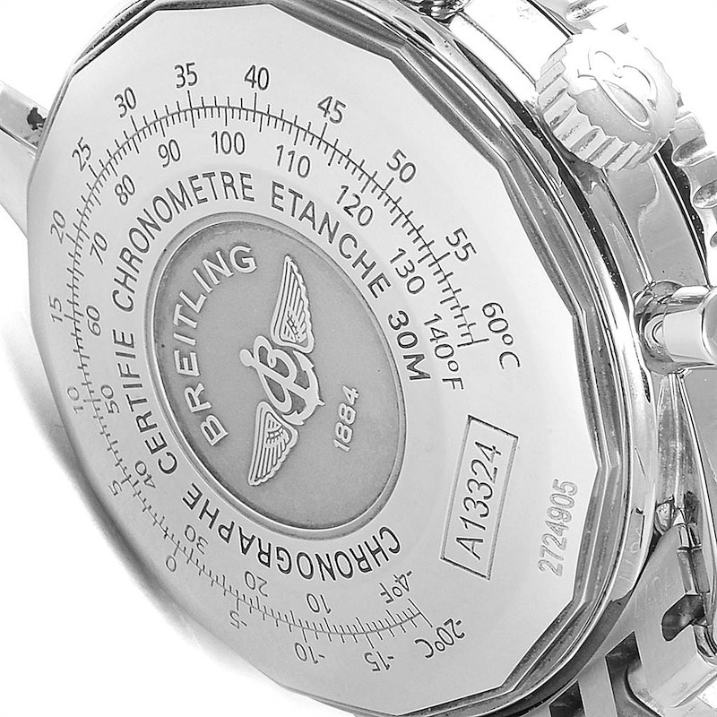 Breitling Navitimer Heritage Silver Panda Dial Steel Mens Watch A13324 SwissWatchExpo