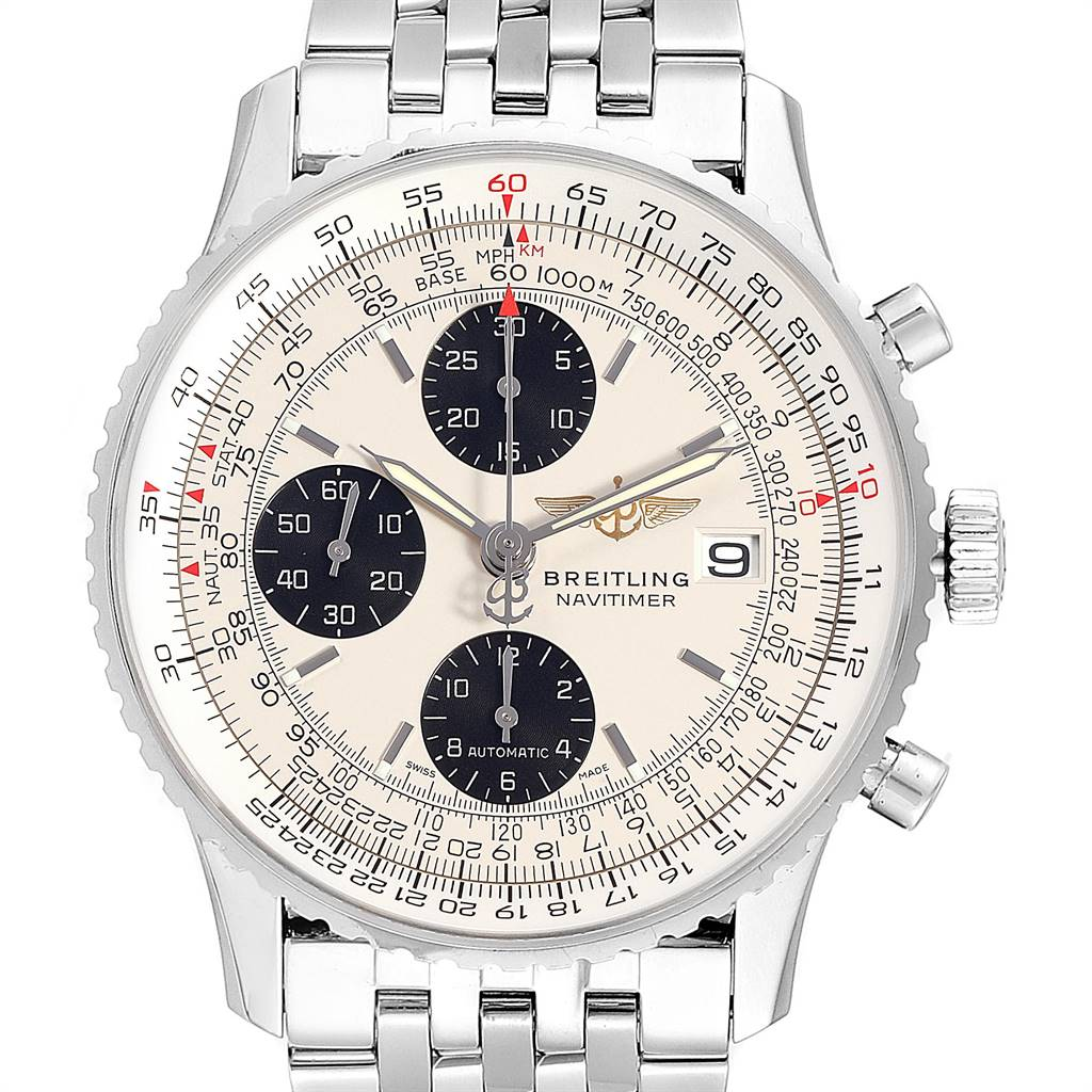 Photo of Breitling Navitimer Heritage Silver Panda Dial Steel Mens Watch A13324