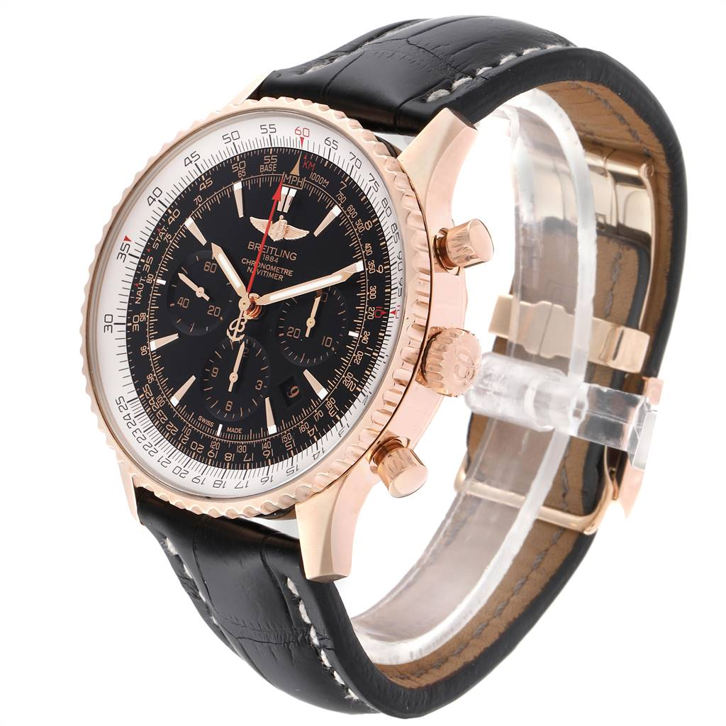 Breitling Navitimer Rose Gold Limited Edition Watch RB0127E6 Box Papers SwissWatchExpo
