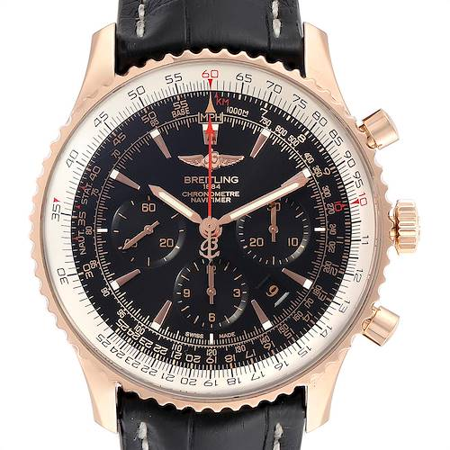 Breitling Navitimer Rose Gold Limited Edition Mens Watch RB0127E6 Box Papers