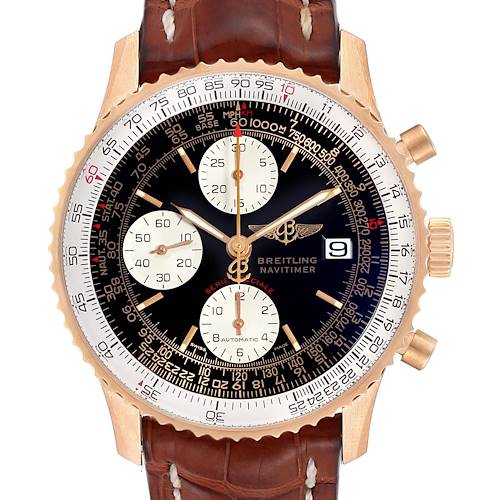 Photo of Breitling Navitimer Fighter Rose Gold LE Mens Watch H13330 Box Papers