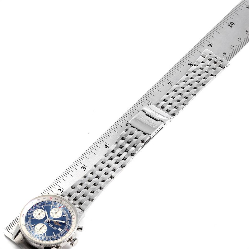 Breitling Navitimer II Blue Dial Chronograph Steel Mens Watch A13322 SwissWatchExpo