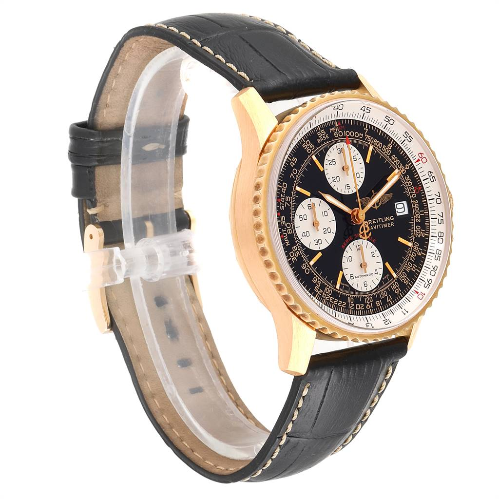 Breitling Navitimer Fighter Yellow Gold Limited Edition Mens Watch H13330 SwissWatchExpo