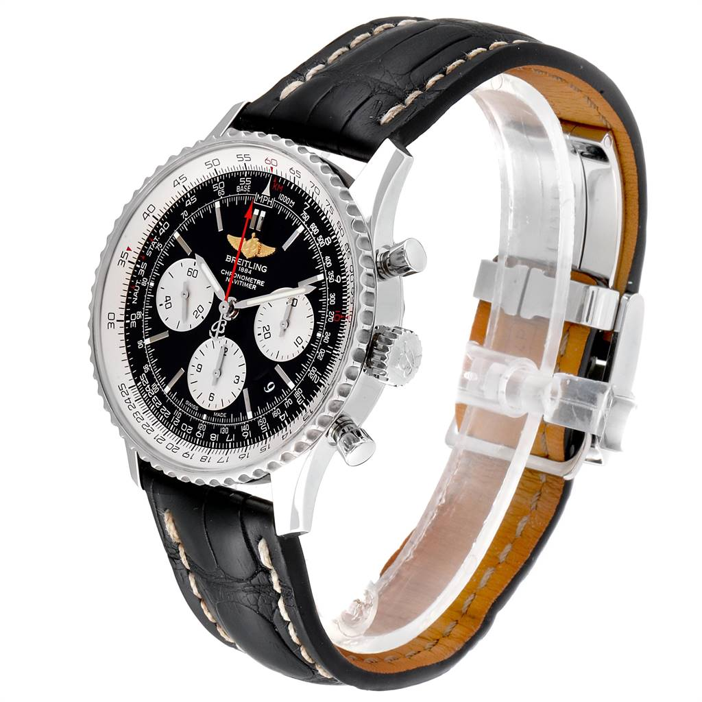 Breitling Navitimer 01 Black Strap Automatic Mens Watch AB0120 SwissWatchExpo