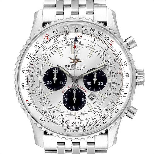 Photo of Breitling Navitimer 50th Anniversary Silver Dial Mens Watch A41322