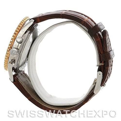4135 Breitling Navitimer Cosmonaute Lemania Chrono Steel and 18K Yellow Gold D12322 SwissWatchExpo