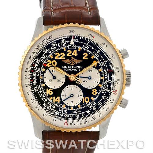 Photo of Breitling Navitimer Cosmonaute Lemania Chrono Steel and 18K Yellow Gold D12322