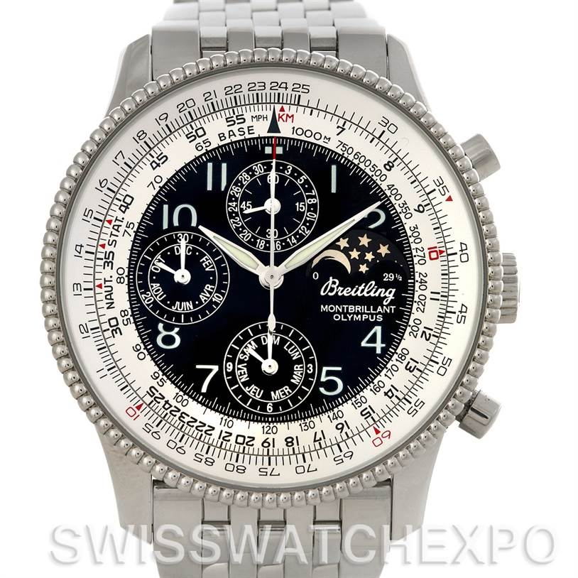 Breitling Navitimer Montbrillant Olympus Men's Watch A19350 SwissWatchExpo