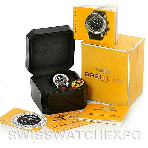 4241 Breitling Navitimer Montbrilliant Chronograph Steel Watch A41330 SwissWatchExpo