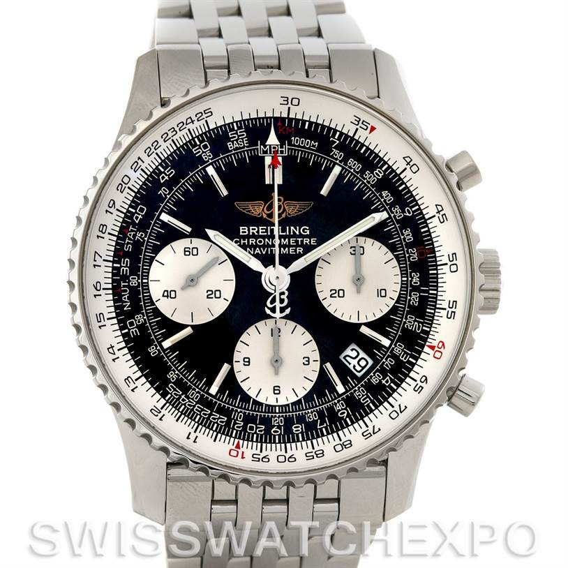 4240 Breitling Navitimer Automatic Chronograph Steel Watch A23322 SwissWatchExpo