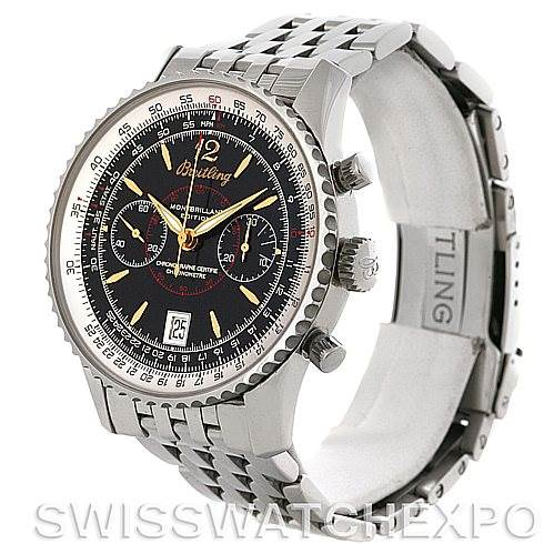 4293 Breitling Montbrillant Edition Steel Men's Watch A48330 SwissWatchExpo