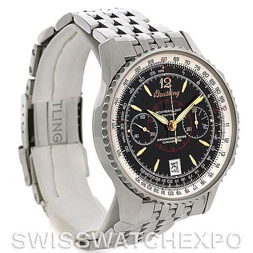 Breitling Montbrillant Edition Steel Men's Watch A48330 SwissWatchExpo