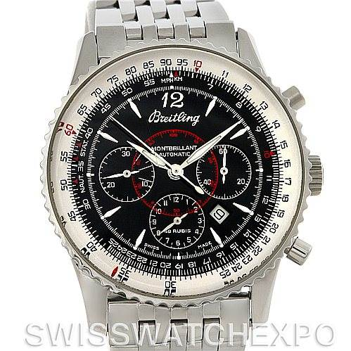4326 Breitling Navitimer Montbrilliant Chronograph Steel Watch A41330 SwissWatchExpo