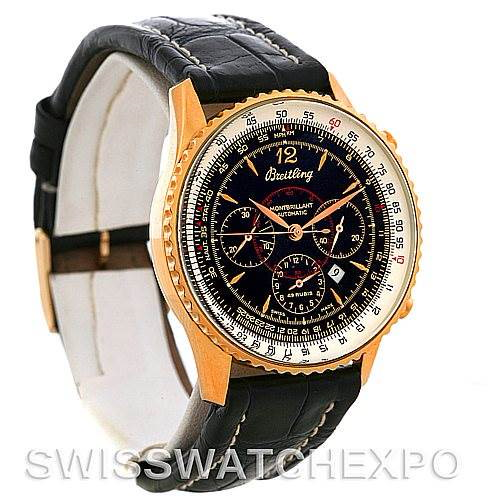 Breitling Navitimer Montbrilliant Chronograph Rose Gold Watch H41030 SwissWatchExpo