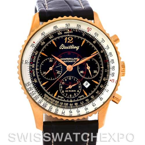 Photo of Breitling Navitimer Montbrilliant Chronograph Rose Gold Watch H41030