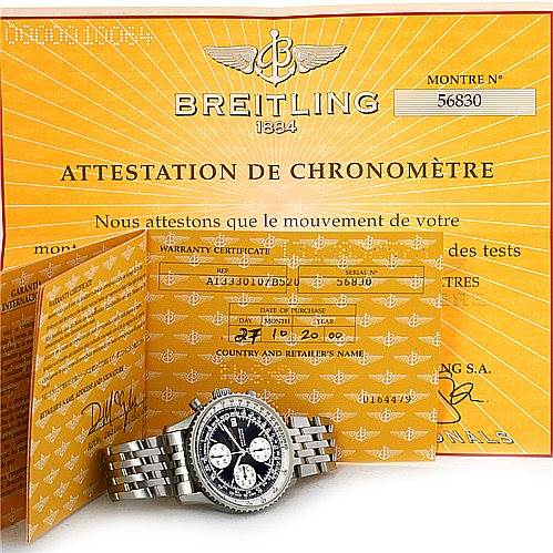 4386 Breitling Navitimer Fighter A13330 Automatic Chronograph Steel Watch SwissWatchExpo