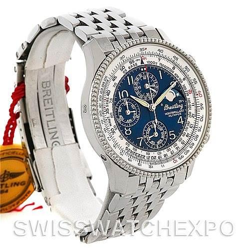 4502 Breitling Navitimer Montbrillant Olympus Men's Watch A19350 NOS SwissWatchExpo