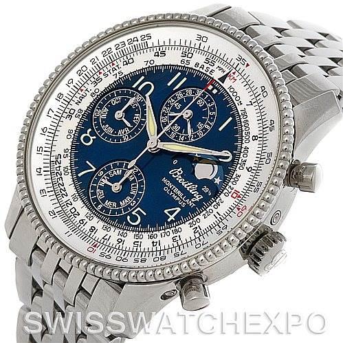 Breitling Navitimer Montbrillant Olympus Men's Watch A19350 NOS SwissWatchExpo