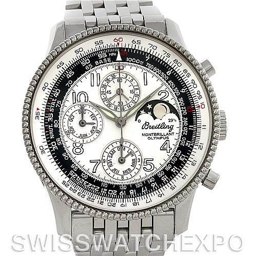 4533 Breitling Navitimer Montbrillant Olympus Men's Watch A19350 SwissWatchExpo