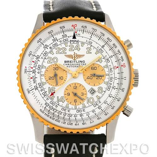 Photo of Breitling Navitimer Cosmonaute Chrono Steel and 18K Yellow Gold D22322