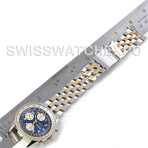4534 Breitling Navitimer II Automatic Steel 18K Yellow Gold Watch D13022 SwissWatchExpo