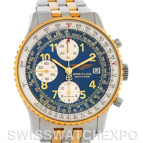 Photo of Breitling Navitimer II Automatic Steel 18K Yellow Gold Watch D13022