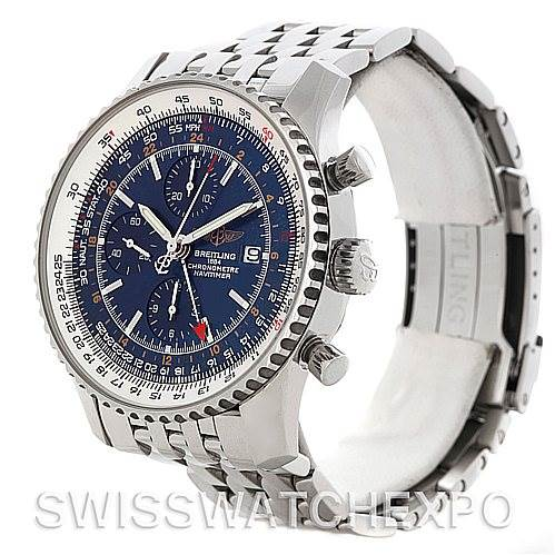 4717 Breitling Navitimer World Chronograph Steel Watch A24322 SwissWatchExpo