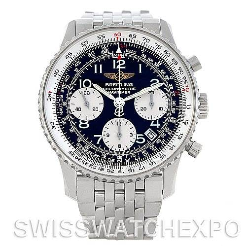 4841 Breitling Navitimer Automatic Chronograph Steel Watch A23322 SwissWatchExpo