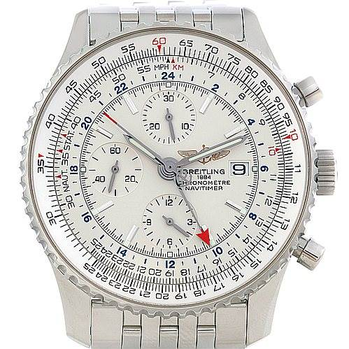 5059 Breitling Navitimer World Chronograph Steel Watch A24322 SwissWatchExpo