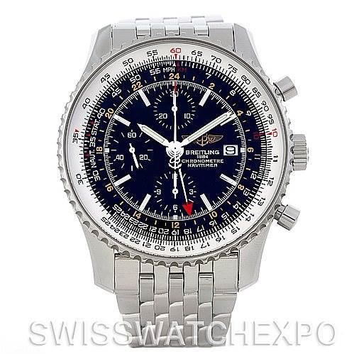 Breitling Navitimer World Chronograph Steel Watch A24322 SwissWatchExpo