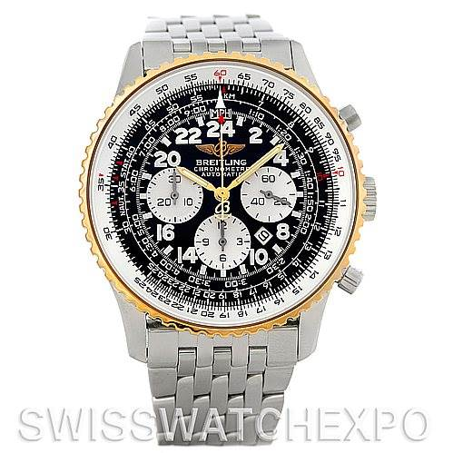 5215 Breitling Navitimer Cosmonaute Chrono Steel and 18K Yellow Gold D22322 SwissWatchExpo