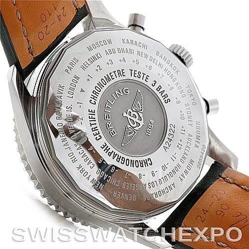 5235 Breitling Navitimer World Chronograph Steel Watch A24322 SwissWatchExpo