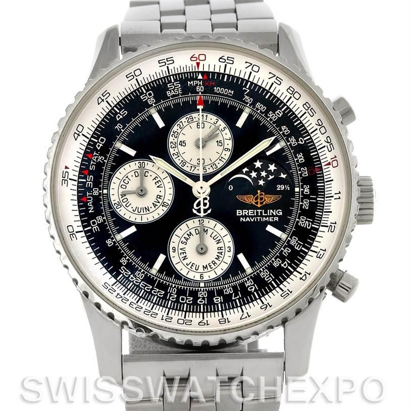 4498 Breitling Navitimer Montbrillant Olympus Men's Watch A19340 SwissWatchExpo