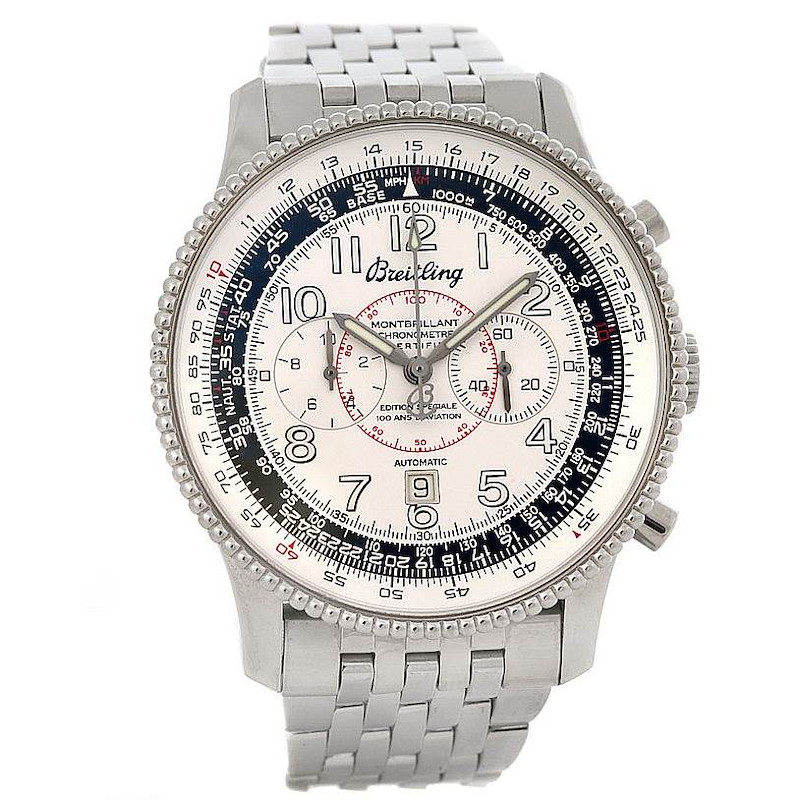 Breitling Navitimer Montbrillant Limited Edition Steel Watch A35330 SwissWatchExpo
