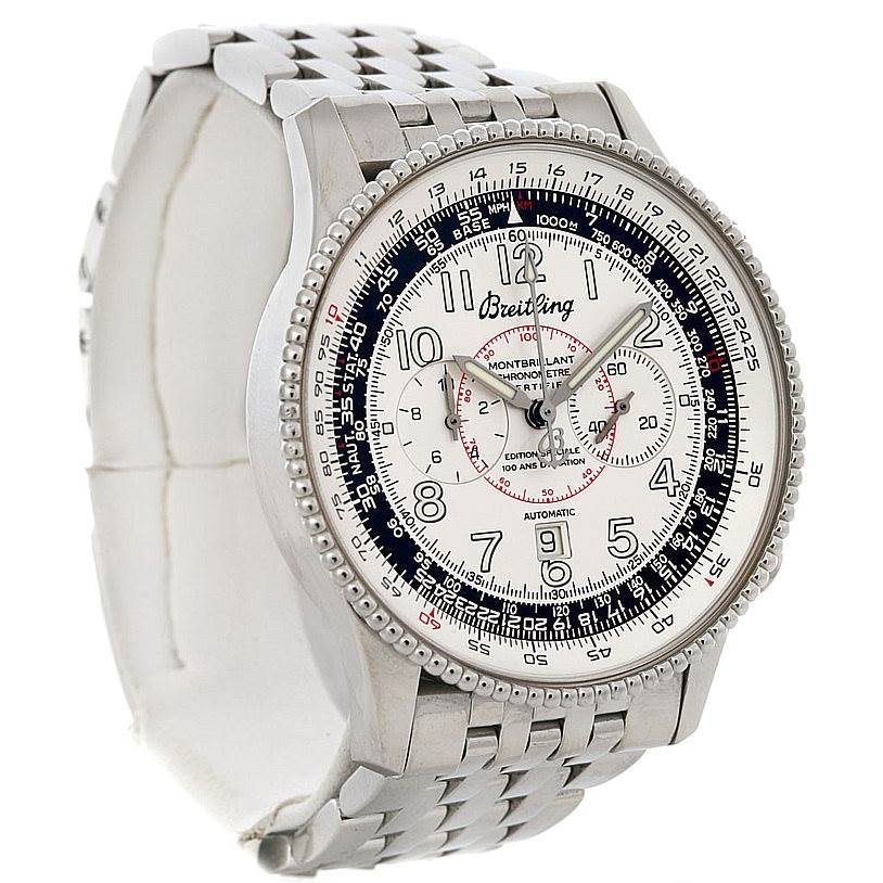 4133 Breitling Navitimer Montbrillant Limited Edition Steel Watch A35330  SwissWatchExpo