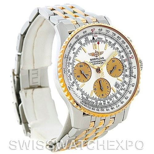 5393 Breitling Navitimer Steel and Gold Automatic Watch D23322 SwissWatchExpo