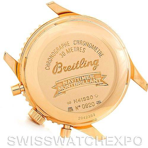 Breitling Navitimer Montbrilliant 18K Rose Gold Watch H41330 SwissWatchExpo