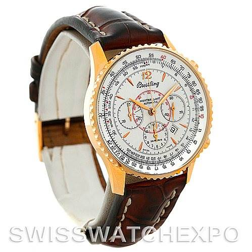 5299 Breitling Navitimer Montbrilliant 18K Rose Gold Watch H41330 SwissWatchExpo