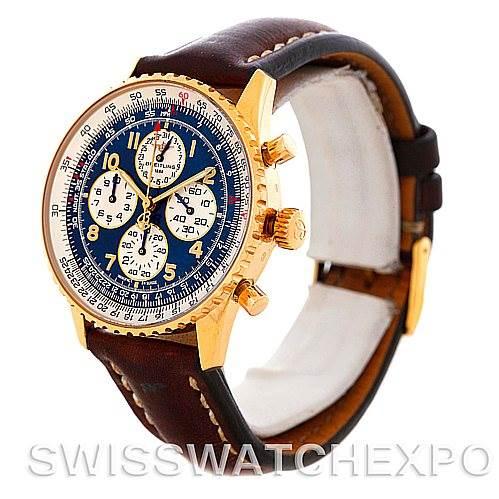 5120P Breitling Navitimer Airborne 18K Yellow Gold Watch K33030 SwissWatchExpo