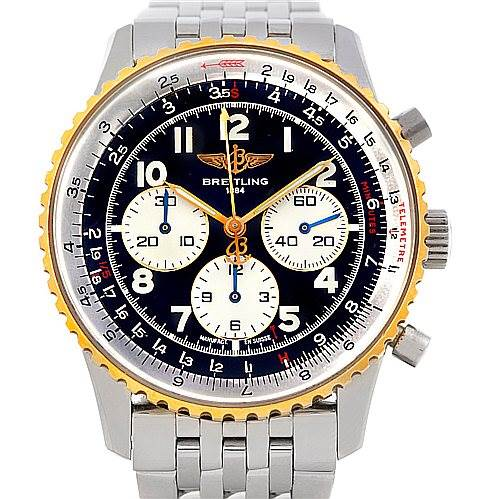 5500 Breitling Navitimer 92 Steel and Gold Automatic Watch D30022 SwissWatchExpo